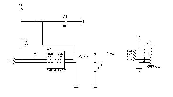 M25P128 Schematic